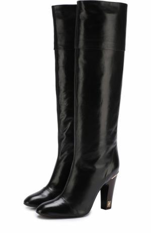 Кожаные сапоги на устойчивом каблуке Marc Jacobs. Цвет: черный