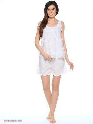 Пижама Del Fiore. Цвет: белый