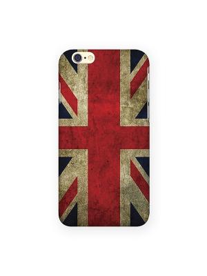 Чехол для IPhone 6 Потертый британский флаг Mitya Veselkov. Цвет: красный, белый