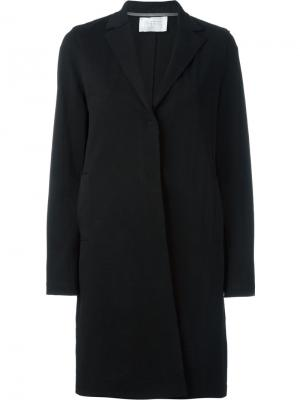 Однобортное пальто Harris Wharf London. Цвет: чёрный
