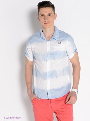 Рубашка Mezaguz. Цвет: голубой, белый