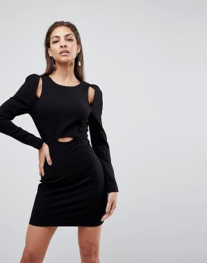 Finders Keepers Платье мини Leon. Цвет: черный