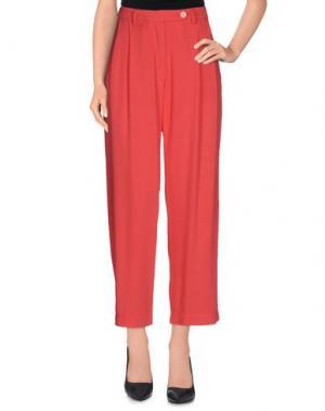 Повседневные брюки GUTTHA. Цвет: коралловый