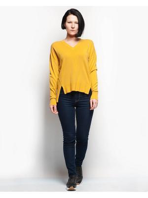 Пуловер INCITY. Цвет: горчичный, светло-оранжевый