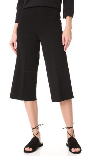Укороченные брюки TSE Cashmere. Цвет: голубой