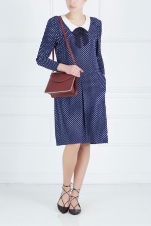 Платье с принтом Hanae Mori Paris. Цвет: синий, белый