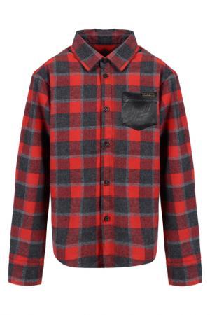 Рубашка Pinetti. Цвет: красный, серый