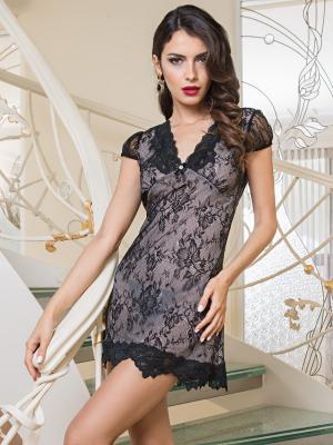 Сорочка MIA-AMORE. Цвет: черный