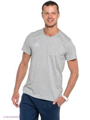 Футболка COREF TEE Adidas. Цвет: серый