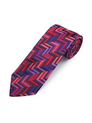 Галстук Sloe Geometris Stripe Duchamp. Цвет: темно-синий, антрацитовый, бледно-розовый, индиго, светло-коралловый, сиреневый, темно-бордовый