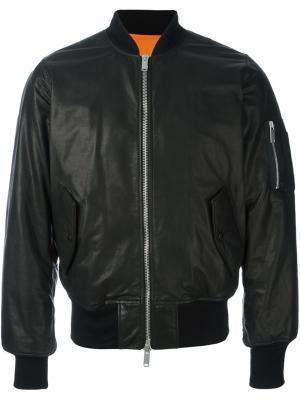 Куртка-бомбер Seta Unravel Project. Цвет: чёрный