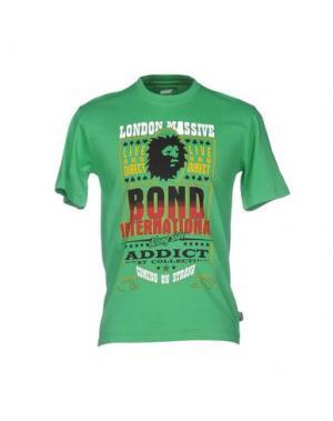 Футболка ADDICT. Цвет: зеленый