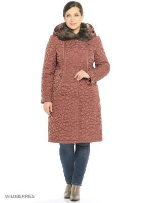 Утепленное пальто MONTSERRAT. Цвет: терракотовый