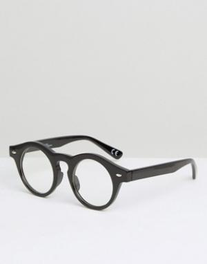 Jeepers Peepers Круглые очки. Цвет: коричневый