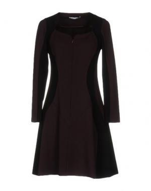 Короткое платье OBLIQUE CREATIONS. Цвет: баклажанный