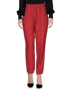 Повседневные брюки EMILIANO RINALDI. Цвет: красный