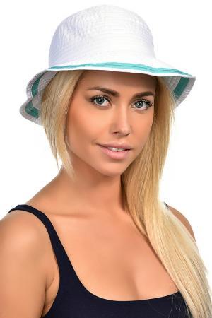 Шляпа DelMare. Цвет: белый, изумрудный