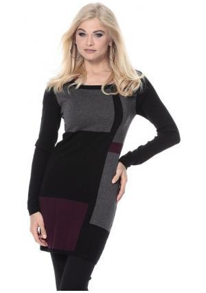 Пуловер VIVANCE. Цвет: черный с рисунком