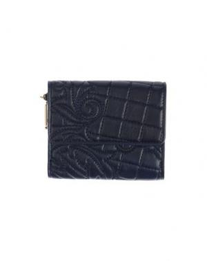 Бумажник VERSACE. Цвет: темно-синий