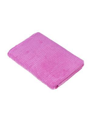 Махровое полотенце В рубчик 70*140 см., Dream time. Цвет: лиловый