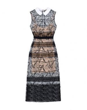 Платье длиной 3/4 SPACE STYLE CONCEPT. Цвет: черный