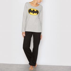 Пижама с длинными рукавами  Batman. Цвет: серый/ черный