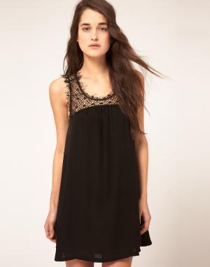 Sophia Kokosalaki Шелковое свободное платье Kore by GGT. Цвет: черный