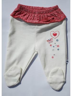 Ползунки-штаны La Pastel. Цвет: белый, розовый