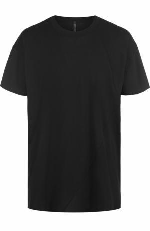 Удлиненная хлопковая футболка свободного кроя Barbara I Gongini. Цвет: черный