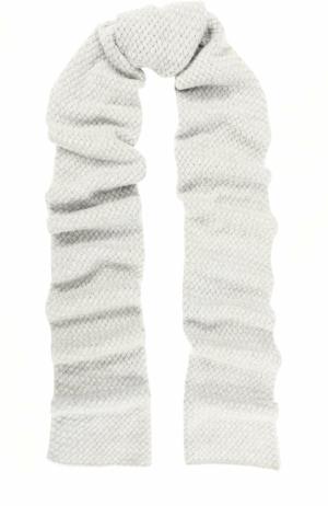 Кашемировый шарф с отделкой из кристаллов Swarovski William Sharp. Цвет: светло-серый