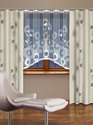 Комплект штор Haft. Цвет: светло-бежевый, серый