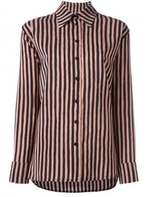 Рубашка Tomsa Christian Wijnants. Цвет: розовый и фиолетовый