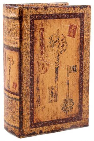 Шкатулка-фолиант Ключи Русские подарки. Цвет: коричневый, желтый