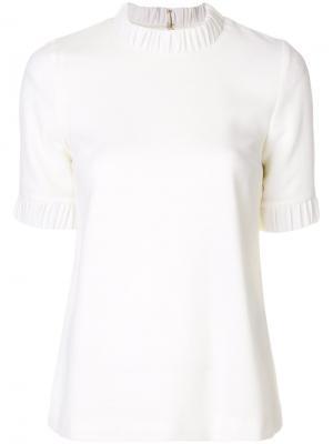 Креповая футболка Goat. Цвет: белый