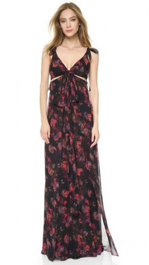 Вечернее платье с узлами и вырезами Thakoon. Цвет: черный мульти
