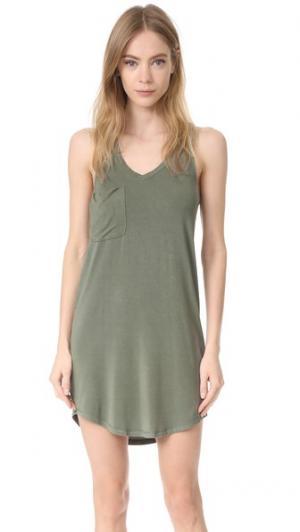 Платье без рукавов со спиной-борцовкой и карманом Z Supply. Цвет: пепельно-зеленый