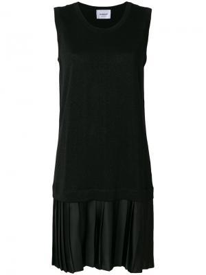 Плиссированное платье шифт Dondup. Цвет: чёрный