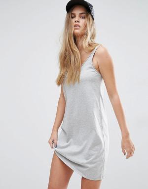 ASOS Платье-майка мини Ultimate. Цвет: серый
