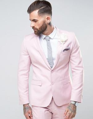 RUDIE Супероблегающий пиджак розового цвета. Цвет: розовый