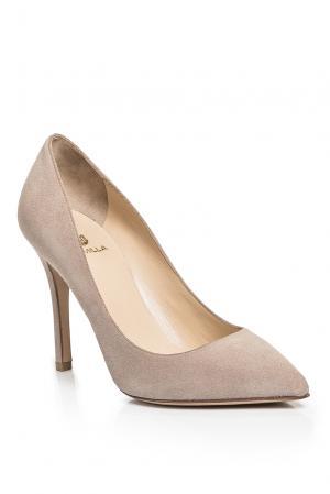 Замшевые туфли AF-186371 Semilla. Цвет: бежевый