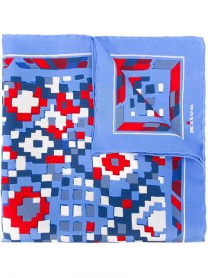 Карманный платок с геометрическим принтом Kiton. Цвет: многоцветный