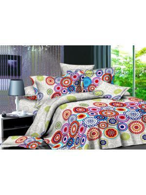Комплект постельного белья 1,5 ДомВелл сатин СН05 Ажур. Цвет: белый