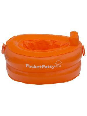 Надувной дорожный горшок PocketPotty ROXY-KIDS. Цвет: оранжевый