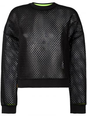 Джемпер Perforated Monreal London. Цвет: чёрный