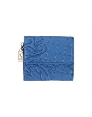 Бумажник GIANNI VERSACE. Цвет: пастельно-синий