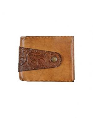Бумажник CAMPOMAGGI. Цвет: желто-коричневый