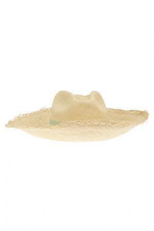 Соломенная шляпа Clasico Natural Artesano. Цвет: кремовый, мятный
