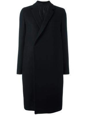 Однобортное пальто The Reracs. Цвет: чёрный