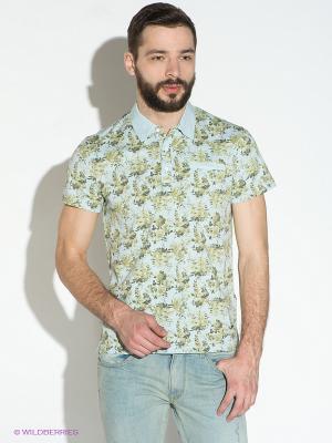 Рубашка Gaudi. Цвет: голубой, зеленый