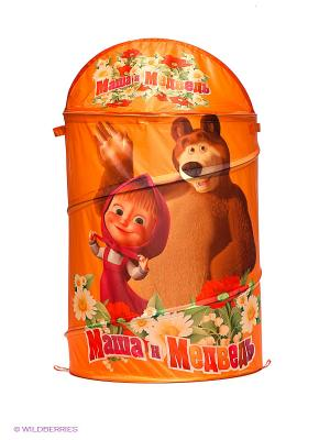 Корзина для игрушек Маша и медведь Играем вместе. Цвет: оранжевый